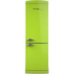 Combina frigorifica Retro Bompani BOCB691/V Clasa A+ 316 litri Latime 60 cm Verde