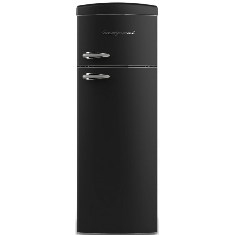 Frigider cu 2 usi Retro Bompani, Clasa A+, 315 litri, Latime 60 cm, Rosu