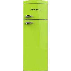 Frigider cu 2 usi Retro Bompani BODP269/V, Clasa A+, 315 litri, Latime 60 cm, Verde