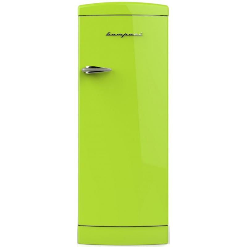 Frigider cu o usa Retro Bompani BOMP105/V, Clasa A++, 275 litri, Latime 60 cm, Verde