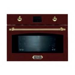 Cuptor cu microunde incorporabil Lofra Dolce Vita, 60x46cm, 6 functii gatire, 38 l, gril, rosu burgundy
