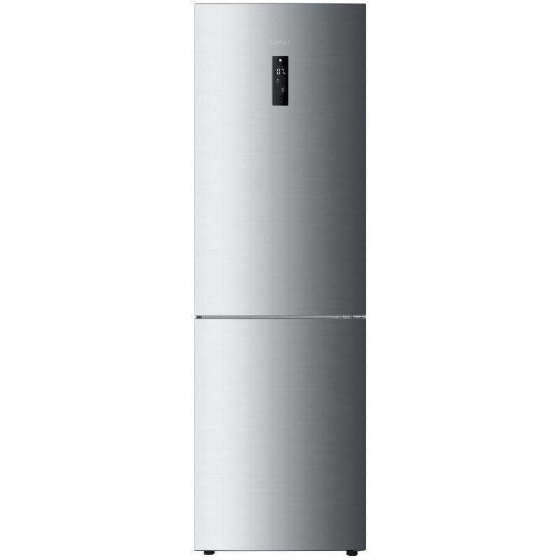 Combina frigorifica Haier C2FE636CFJ, A+, 352 litri, H 190 cm, Argintiu