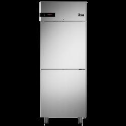 Frigider profesional ILsa Neos AN07S2530 capacitate 700 l, 2 usi, temperatura 0° +10°C, argintiu