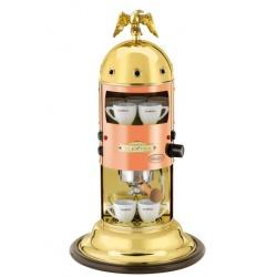 Automat de cafea Elektra Mini Verticale A1 semiautomatic 13k Cupru și alamă + bază din lemn