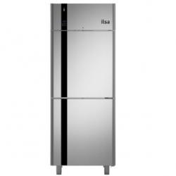 Frigider profesional ILsa Evolve AE35X1500 cu 2 usi, capacitate 700 L, 2 zone temperatura -2/+8°C, inox