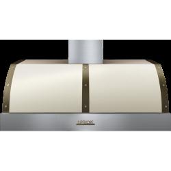 Hota perete Superiore HD48PBTCB DECO 48 ,1 motor, 900 m3/h, control electronic crem mat cu finisaje bronz
