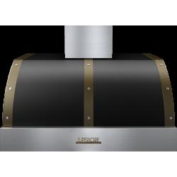 Hota perete Superiore HD36PBTNB DECO 36 ,1 motor, 900 m3/h, control electronic negru mat cu finisaje bronz