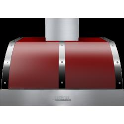 Hota perete Superiore HD36PBTRC DECO 36 ,1 motor, 900 m3/h, control electronic rosu mat cu finisaje crom