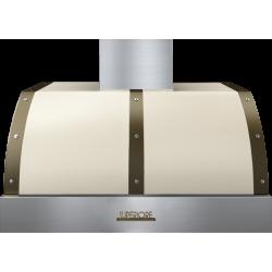 Hota perete Superiore HD36PBTCB DECO 36 ,1 motor, 900 m3/h, control electronic crem mat cu finisaje bronz