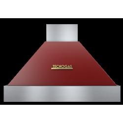 Hota decorativa Tecnogas DECO CD390RO, 1 motor, 850 m3 / h, rosu mat cu finisaje gold