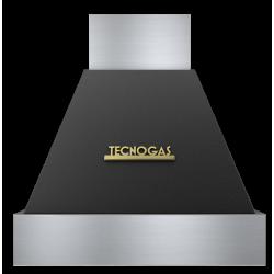 Hota decorativa Tecnogas DECO CD360BO, 1 motor, 850 m3 / h, negru mat cu finisaje gold