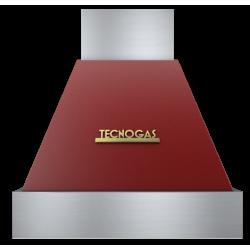 Hota decorativa Tecnogas DECO CD360RO, 1 motor, 850 m3 / h, rosu mat cu finisaje gold