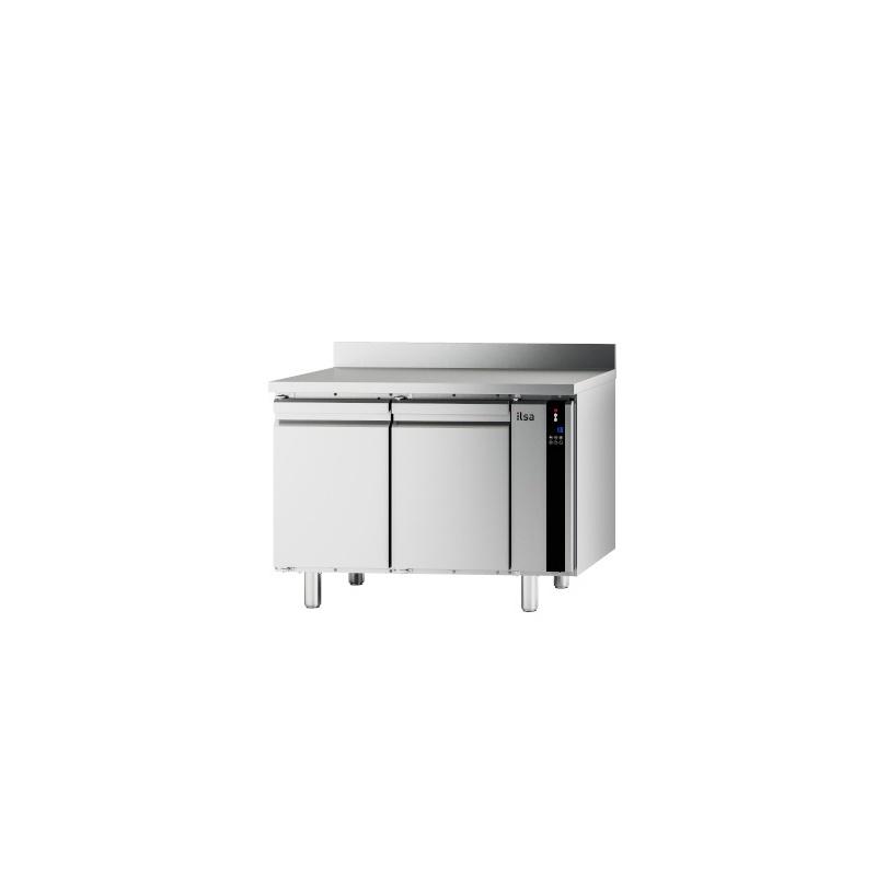 Masa rece ILsa Evolve T9PG2V1520 cu rebord, 2 usi, capacitate 243 l, temperatura -2°+8°C, inox