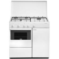 Aragaz Bompani Ecoline BI960YA/L, 85x45 cm, plita gaz, 4 arzatoare, aprindere electronica, cuptor gaz, grill electric, alb