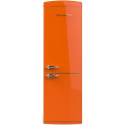 Combina frigorifica Retro Bompani BOCB606 / A Clasa A++ 341 litri deschidere usi dreapta Portocaliu