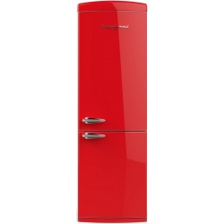 Combina frigorifica Retro Bompani BOCB606 / R Clasa A++ 341 litri deschidere usi dreapta Rosu