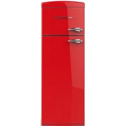 Frigider cu 2 usi Retro Bompani BODP615 / R Clasa A++ 315 litri deschidere usi stanga Rosu