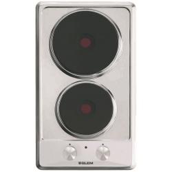 Plita incorporabila Glem Gas GT320IX, 30 cm, plita electric, 2 zone gatit, aprindere electronica, inox