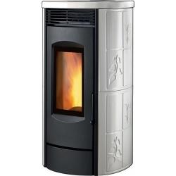Sobă Caminetti Montegrappa ALPINA XW LX9 cu peleți cu aer cald ventilat cu sistem a.s.s 9 kw