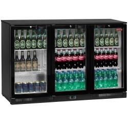 Vitrina frigorifica ventilata pentru bar Diamond TAB3/D-R2 cu 3 usi batante, capacitate 300 l, negru