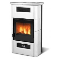 Sobă cu lemne Extraflame Nordica WANDA CLASSIC EVO cu aer cald 9 kw - alb