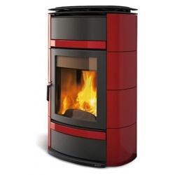 Sobă pe lemne Extraflame Nordica NORMA S IDRO DSA cu încălzirea apei de 20 kw - bordeaux