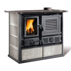 Sobă pe lemne Extraflame Nordica MARIAROSA - de fontă cu depozitare - 8,6 kw - 246 m³ încălzit - fontă emailată