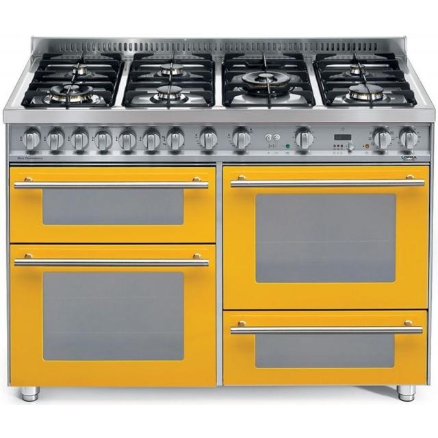 Aragaz Lofra Special120 PBI126SMFE+MF/2CI, gaz, 120X60cm, 7 arzatoare, 3 cuptoare, grill electric, timer, crem