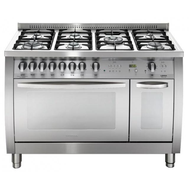 Aragaz Lofra Special120 CSD126GV+E/2Ci, gaz, 120X60cm, 7 arzatoare, 2 cuptoare, grill electric, timer,curbat, inox