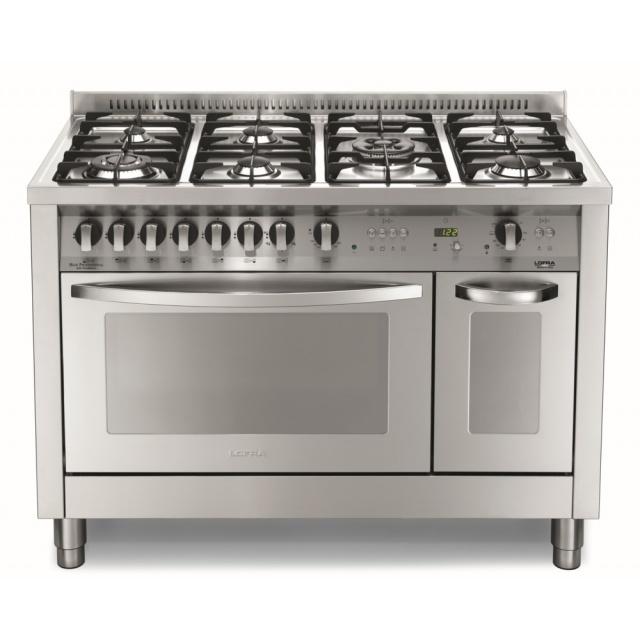 Aragaz Lofra Special120 PD126GV+E /2Cì, gaz, 120X60cm, 7 arzatoare, 2 cuptoare, grill electric, timer, inox
