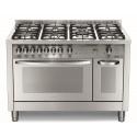 Aragaz Lofra Special120 PD126GV+E/2CI, gaz, 120X60cm, 7 arzatoare, 2 cuptoare, grill electric, timer, inox