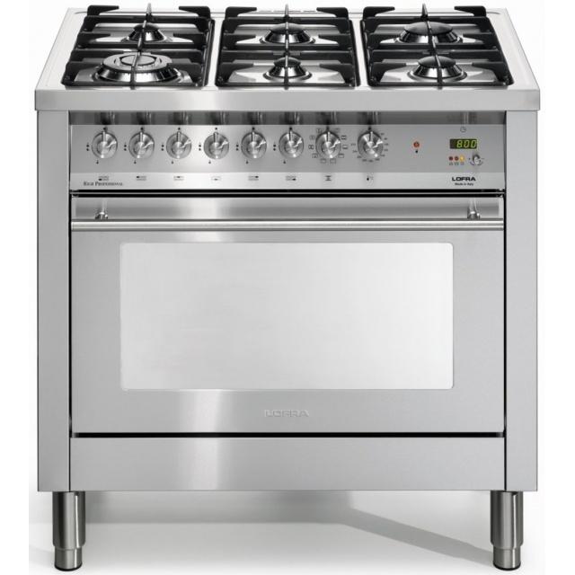 Aragaz Lofra Special90 PG96MFT/CISF, gaz, 90X60cm, 5 arzatoare, cuptor gigantic, grill electric, timer, inox