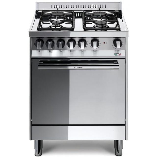 Aragaz Lofra Maxima M65GV, 60x50 cm, gaz, 4 arzatoare, grill electric, timer, aprindere electronica,cuptor pe gaz, inox