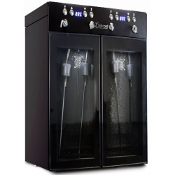 Vitrina de vinuri Datron dispenser 4 sticle 2 zone temperatura C° negru