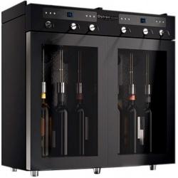 Vitrina de vinuri Datron dispenser 6 sticle 2 zone temperatura C° negru