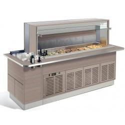 Vitrina rece tip bufet Enofrigo Fast Gourmet Wall RF 1000, temperatura +2+7°C