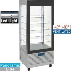 Vitrina frigorifica verticala tip display Diamond MIC-36G/R6,4 geamuri si 3 rafturi