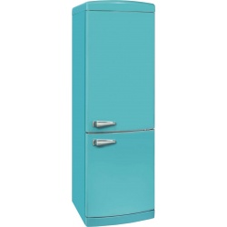 Combina frigorifica VonReiter RKGC 30090 RDA +++ TB, 315 litri, clasa A++, 153 kWh/ an, Frigider No Frost, Turcoaz albastru
