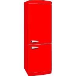 Combina frigorifica VonReiter RKGC 30090 RDA +++ RT, 315 litri, clasa A+++, 153 kWh/ an, Frigider No Frost, Rosu
