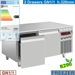 Masa rece Diamond N77/B212G-R2,2 sertare GN 1/1-h 200mm