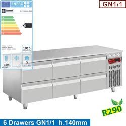 Masa rece Diamond N77/R316G-R26,6x1/2 sertare GN1/1- h 100 mm
