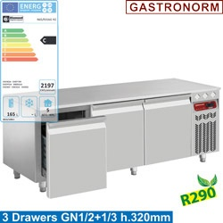 Masa rece Diamond N77/R212G-R2,2 sertare GN 1/1-200 mm