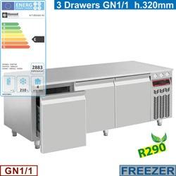 Masa rece Diamond N77/B316G-R2,3 sertare GN 1/1-h 200 mm