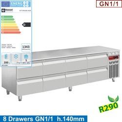 Masa rece Diamond N77/R420G-R28,8X 1/2 sertare GN1/1-h 100 mm