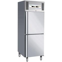 Combina frigorifica profesionala Forcar G-GNV600DT, capacitate 474 l, 2 zone temperatura -2°+8°/-18°-22°C, Inox