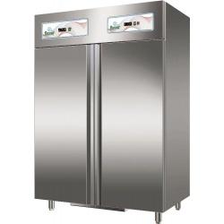 Combina frigorifica profesionala Forcar G-GN1200D cu 2 usi, capacitate 1104 l, 2 zone temperatura +2°+8°/-18°-20°C, Inox