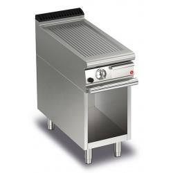 Gratar Fry Top Baron Q70FTTV/G413,QUEEN7,placa nervurata otel AISI430,compartiment deschis,putere 6,5kW, arzatoare gaz, termosat