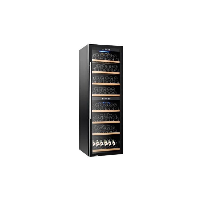 Vitrina de vin Luxus WineExpert 180 LUX-WE180Z, Capacitate 180 sticle, Negru