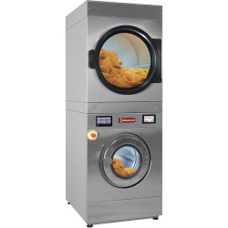 Masina de spalat DIAMOND DGEB/18-TS,uscare super rotativă 14 kg (electrică)+uscător rotativ 18 kg(gaz),ecran tactil