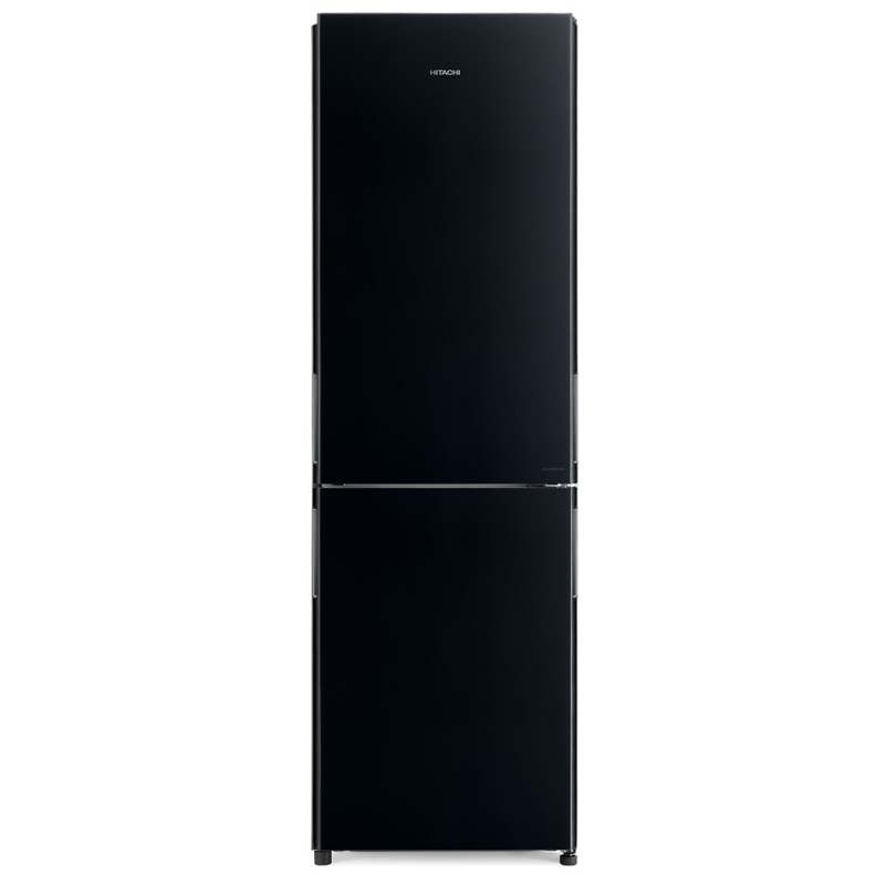 Combina frigorifica Hitachi R-BG410PRU6(GBK), 330 L, clasa A++, 219 kWh/an, No Frost, Sticla neagra